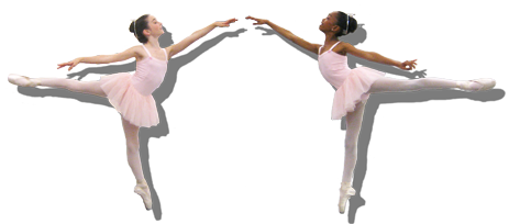The two Baby Ballerinas dancing with Caterina