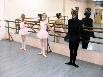 Caterina and Her Baby Ballerinas at the barre